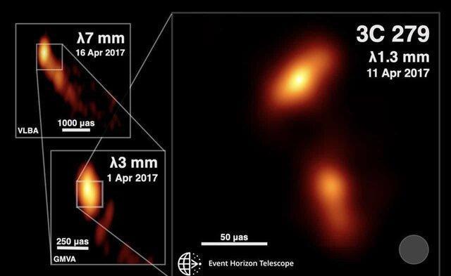 تلسکوپ افق رویداد به جز سیاه چاله معروف یک اختروش را نیز رصد نموده است
